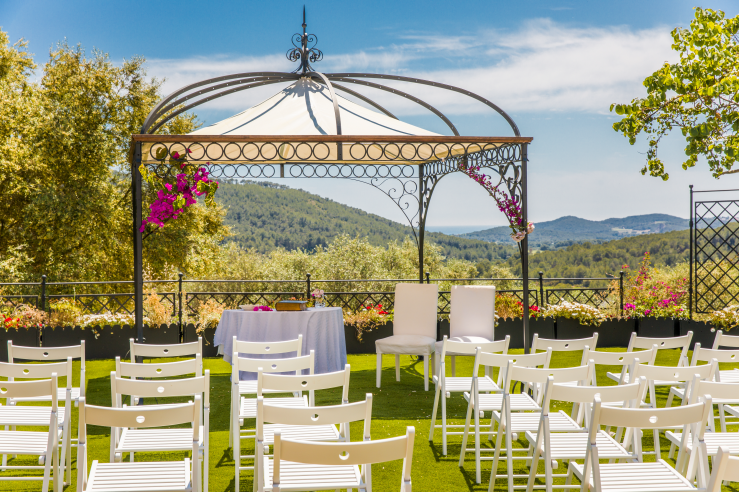 outdoor wedding venue near Sitges