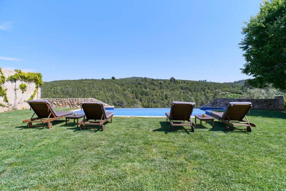 pool area at Masia Viladellops