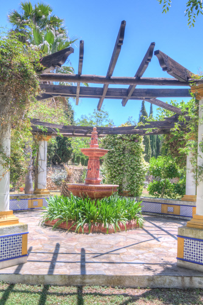 The gardens of Masia Can Pares in Sitges